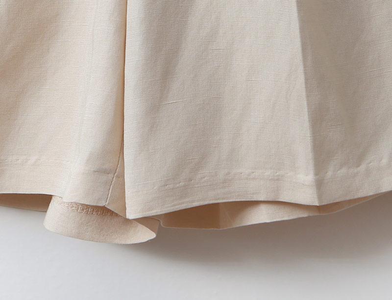 여자 여름 핀턱 숏팬츠 벨티드 5부 린넨 반바지 - 옷자락, 49,000원, 하의, 면팬츠